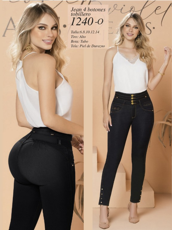 Colombian Butt lifting Jean - Ref. 280 -1240 Oscuro