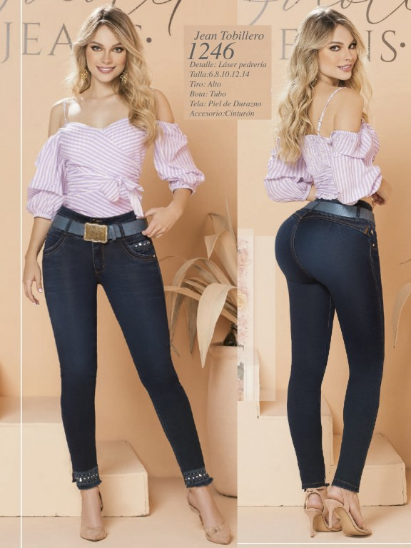 Colombian Butt lifting Jean - Ref. 280 -1246 Oscuro