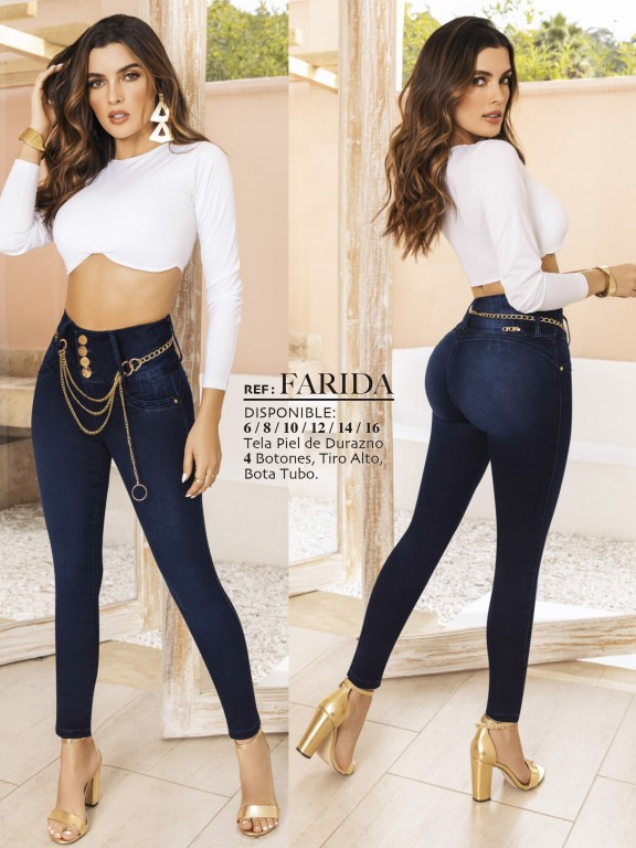 Jeans Levantacola Colombiano - Ref. 119 -FARIDA