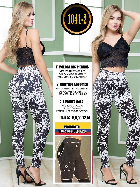 Colombian Butt Lifting Leggin - Ref. 119 -1041-2 Negro