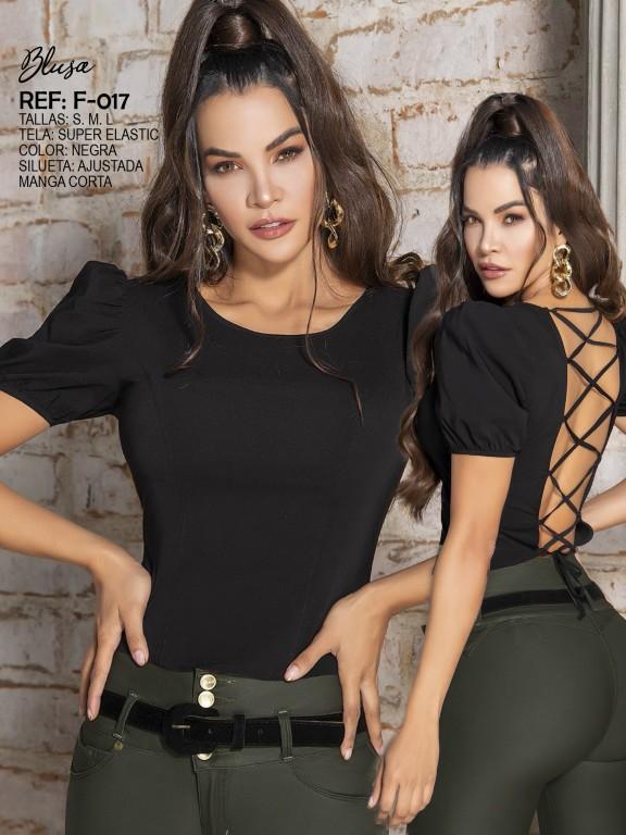 Blusa Moda Colombiana - Ref. 287 -017 Negro