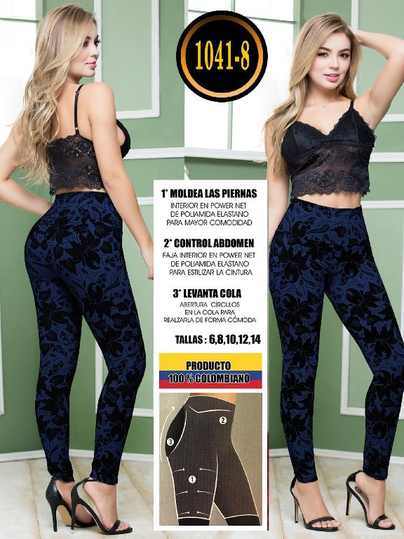 Colombian Butt Lifting Leggin - Ref. 119 -1041-8 Azul