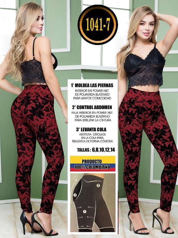 Colombian Butt Lifting Leggin - Ref. 119 -1041-7 Vino Tinto