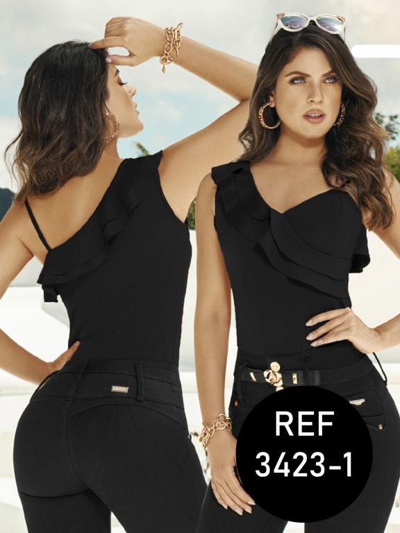 Colombian Fashion Blouse - Ref. 119 -3423-1 NEGRO