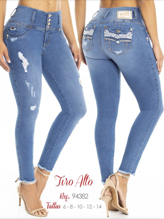 Colombian Butt lifting Jean - Ref. 248 -94382 D