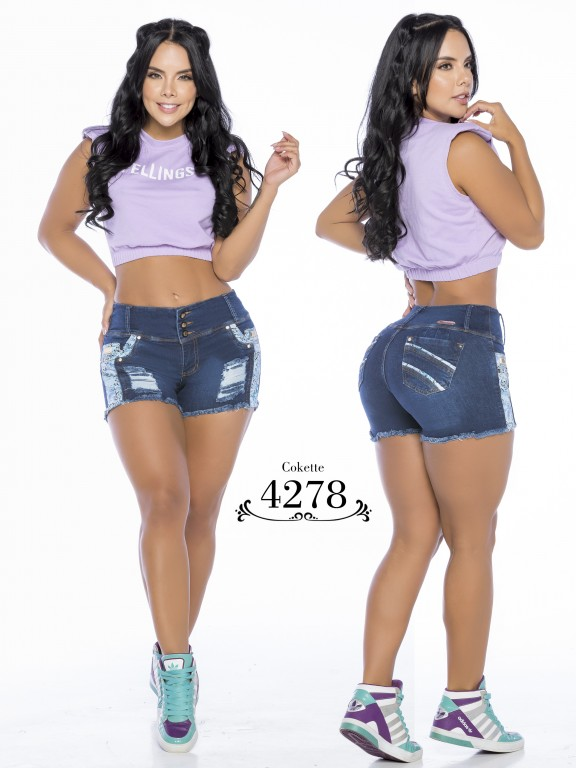 Colombian Butt Lifting Shorts - Ref. 119 -4278-CK