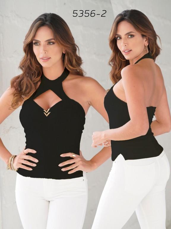 Blusa Moda Colombiana - Ref. 252 -5356 Negro