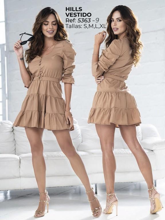 Vestido Moda  Colombiano - Ref. 252 -5363 Cafe