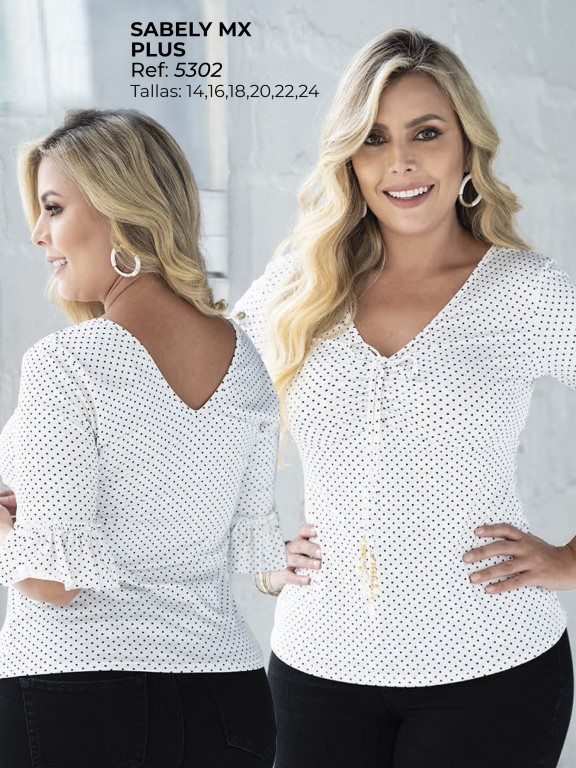 Colombian Fashion Blouse - Ref. 252 -5302 Blanco Plus
