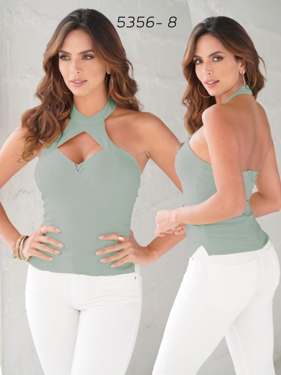 Colombian Fashion Blouse - Ref. 252 -5356 Verde