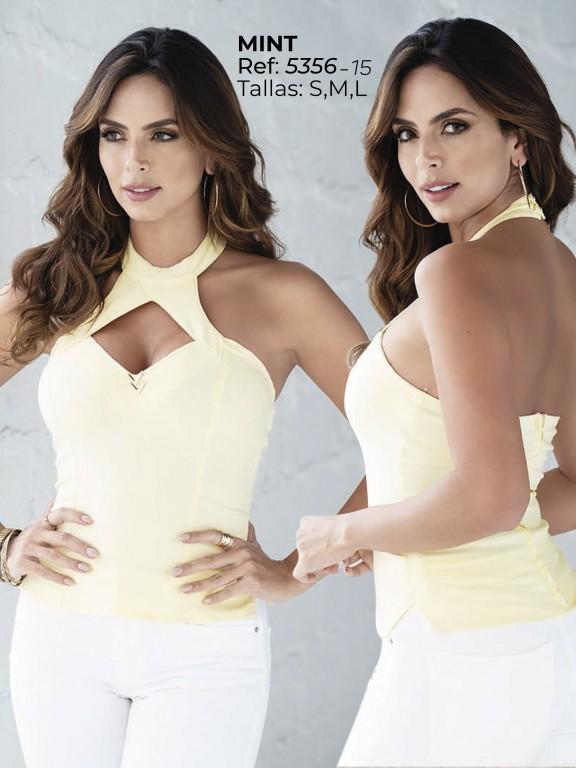 Colombian Fashion Blouse - Ref. 252 -5356 Amarillo
