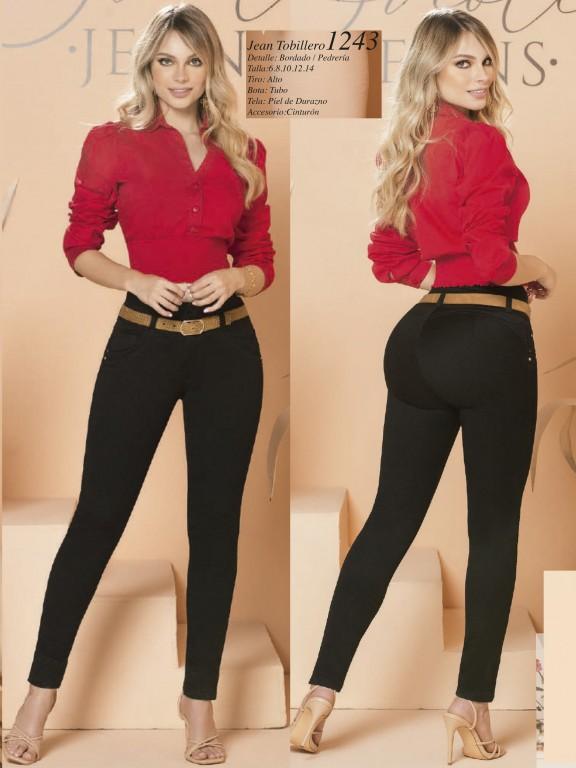 Jeans Levantacola Colombiano - Ref. 280 -1243 Negro
