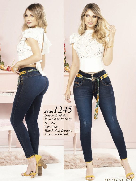 Colombian Butt lifting Jean - Ref. 280 -1245 Oscuro