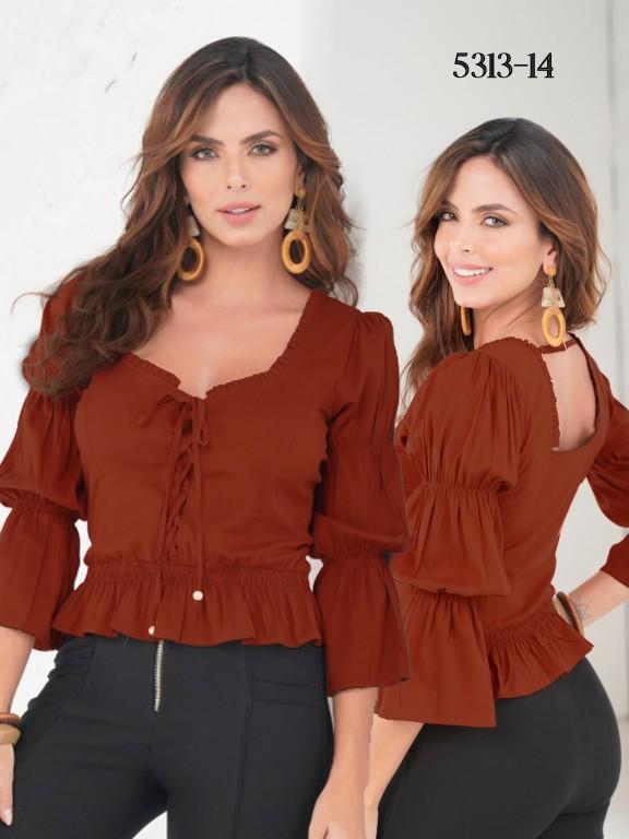 Colombian Fashion Blouse - Ref. 252 -5313 Vinotinto