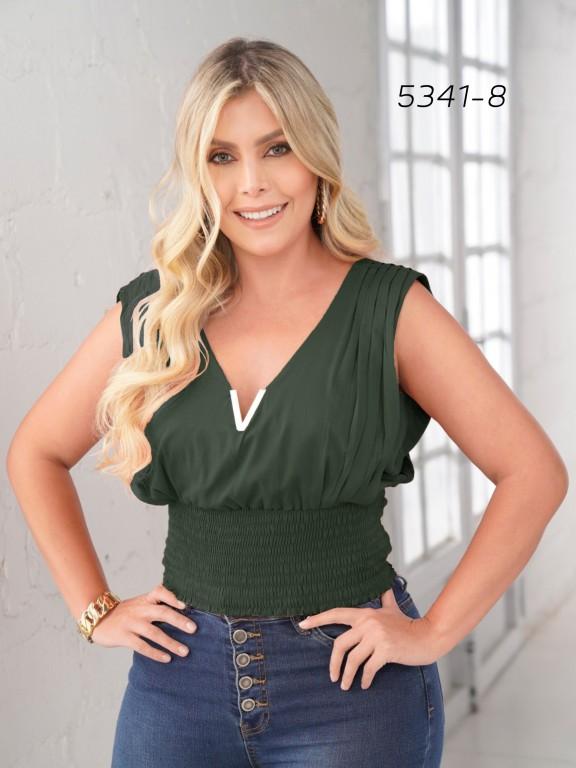 Colombian Fashion Blouse - Ref. 252 -5341 Verde