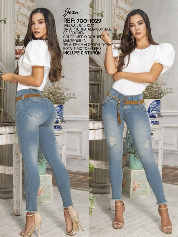 Jeans Levantacola Colombiano - Ref. 287 -1029