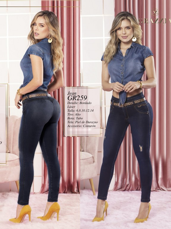 Colombian Butt lifting Jean - Ref. 306 -259 Oscuro