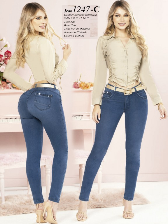 Colombian Butt lifting Jean - Ref. 280 -1247 Claro