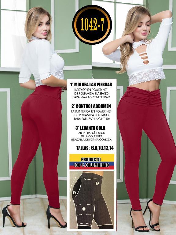 Colombian Butt Lifting Leggin - Ref. 119 -1042-7 Vino Tinto