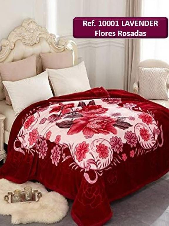 Cobija K Flor Rosada - Ref. 272 -10001 K Flor Rosada