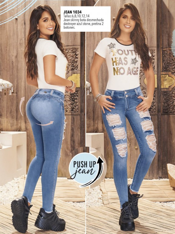 Colombian Butt lifting Jean - Ref. 308 -1034
