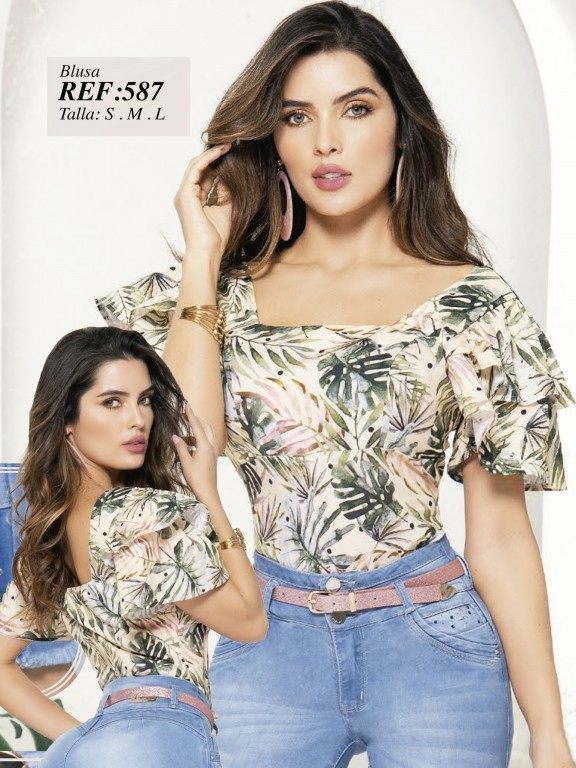 Colombian Fashion Blouse - Ref. 280 -587