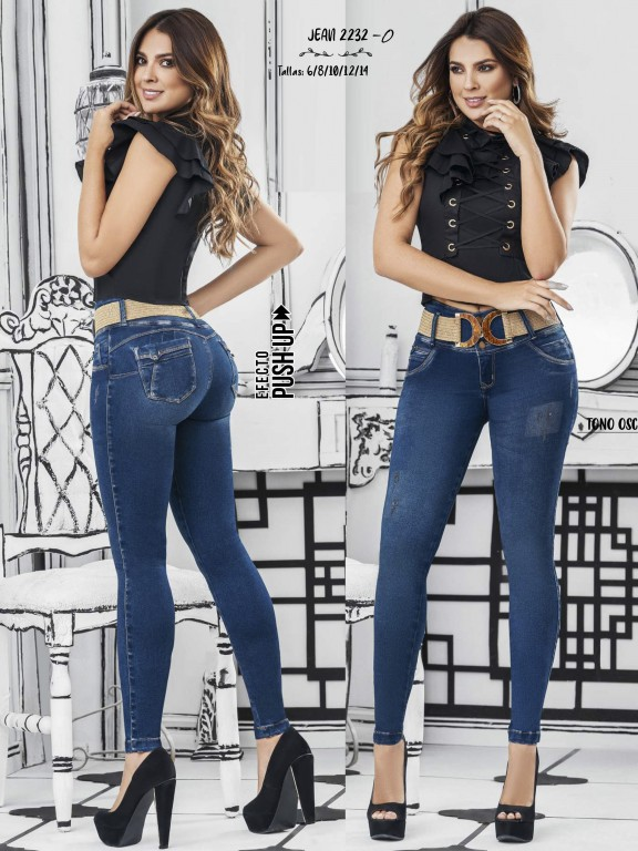 Colombian Butt lifting Jean - Ref. 307 -2232 Oscuro