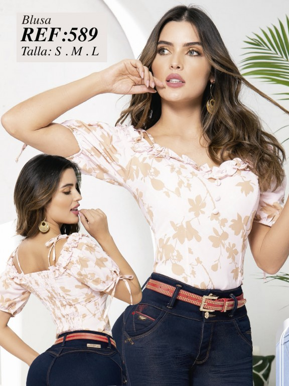Colombian Fashion Blouse - Ref. 280 -589