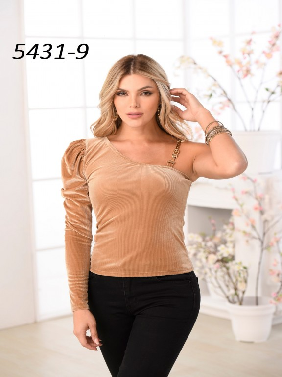 Colombian Fashion Blouse - Ref. 252 -5431 Cafe