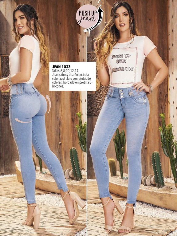 Colombian Butt lifting Jean - Ref. 308 -1033