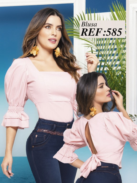 Colombian Fashion Blouse - Ref. 280 -585 Rosado