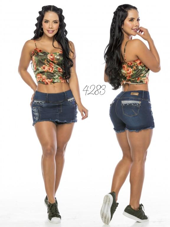 Falda Short Levantacola Colombiano - Ref. 119 -4283CK