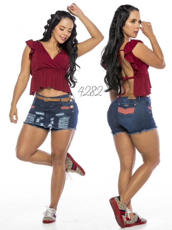 Falda Short Levantacola Colombiano - Ref. 119 -4282CK