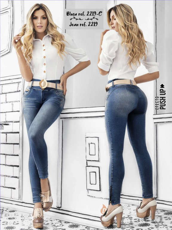 Colombian Butt lifting Jean - Ref. 307 -2219 Claro