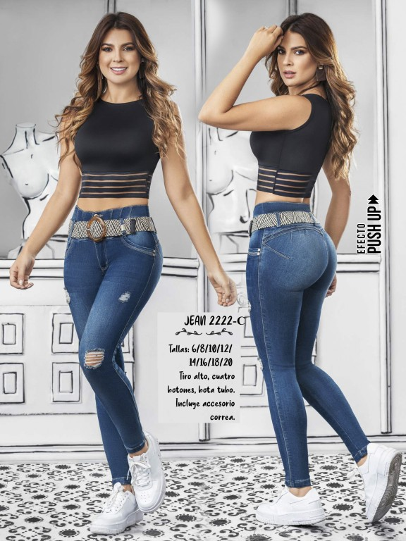 Colombian Butt lifting Jean - Ref. 307 -2222 Claro