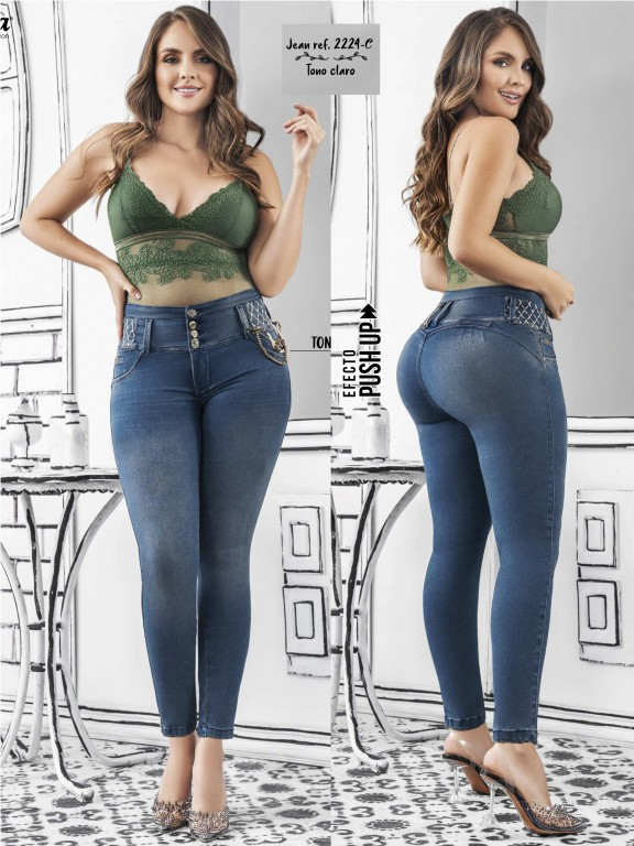 Colombian Butt lifting Jean - Ref. 307 -2224 Claro