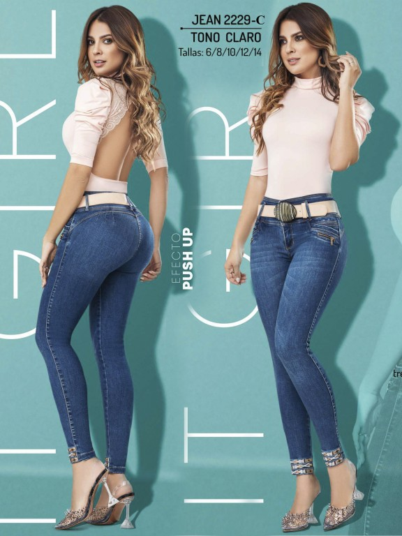 Colombian Butt lifting Jean - Ref. 307 -2229 Claro
