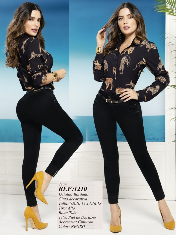 Colombian Butt lifting Jean - Ref. 280 -1210 Negro