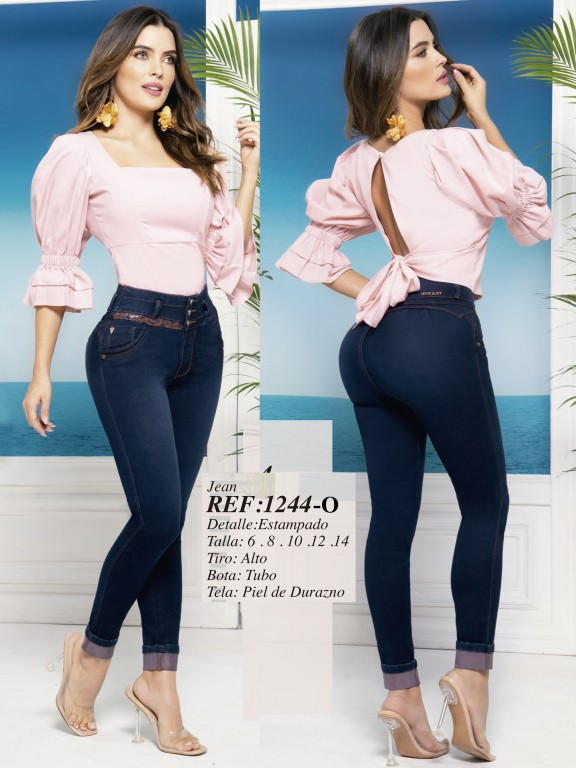 Colombian Butt lifting Jean - Ref. 280 -1244 Oscuro