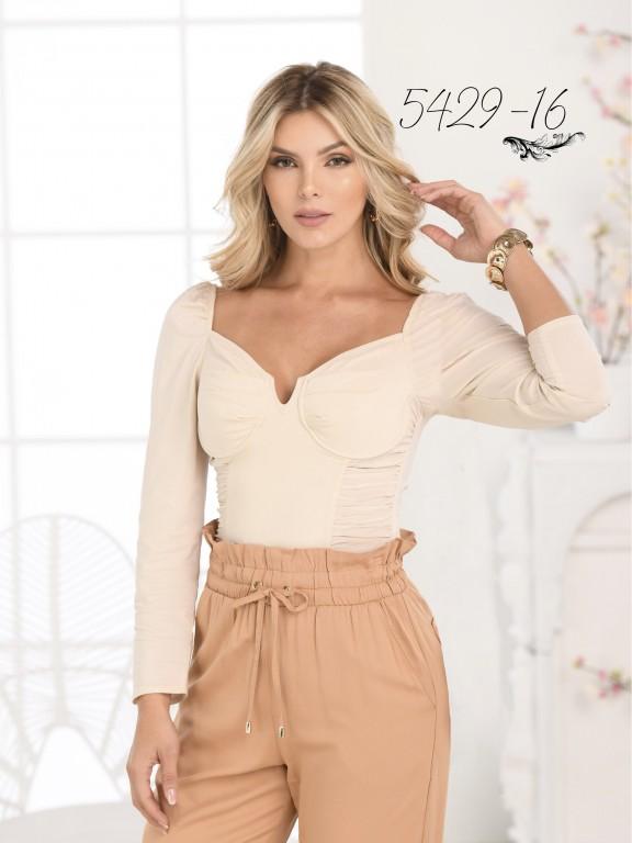 Colombian Fashion Blouse - Ref. 252 -5429 Beige