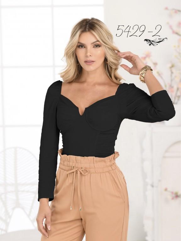 Colombian Fashion Blouse - Ref. 252 -5429 Negro