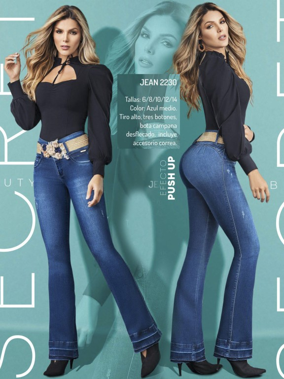 Jeans Levantacola Colombiano - Ref. 307 -2230