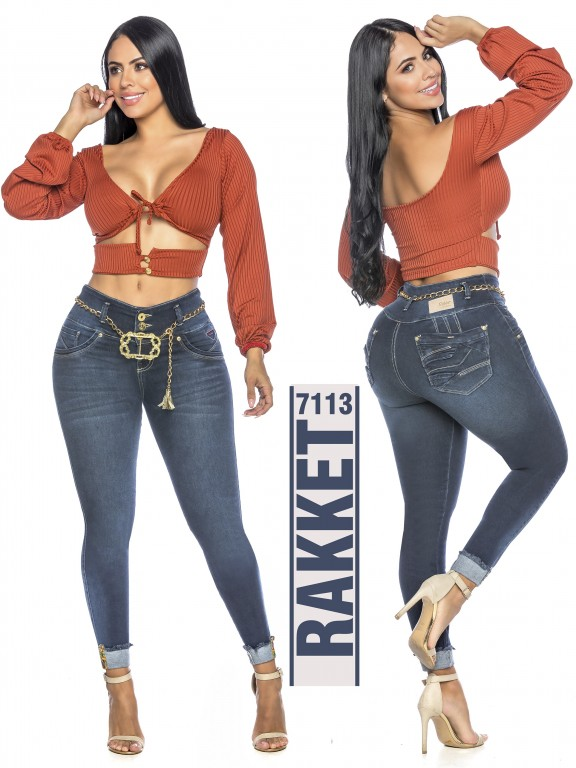 Jeans Levantacola Colombiano - Ref. 261 -7113 R