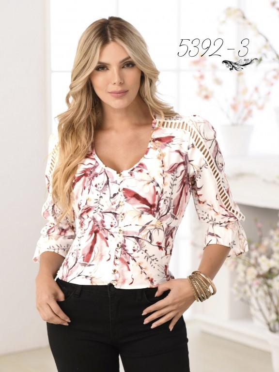 Colombian Fashion Blouse - Ref. 252 -5392 Rojo