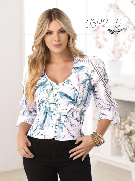 Colombian Fashion Blouse - Ref. 252 -5392 Azul