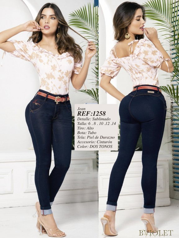 Colombian Butt lifting Jean - Ref. 280 -1258 Oscuro
