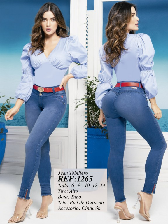 Jeans Levantacola Colombiano - Ref. 280 -1265 Claro