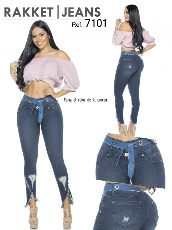 Jeans Levantacola Colombiano - Ref. 261 -7101-R