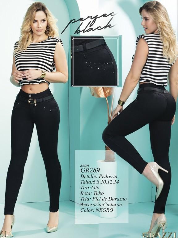 Jeans Levantacola Colombiano - Ref. 306 -289 Negro