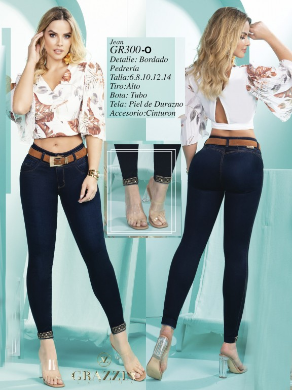 Jeans Levantacola Colombiano - Ref. 306 -300 Oscuro